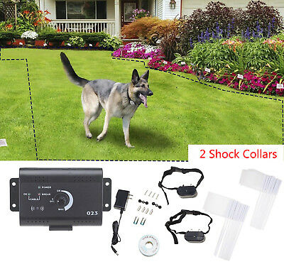 Underground Electric Dog Fence System Waterproof Shock Collars For 2 Dogs
