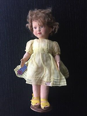 EXCELLENT Quality RARE 1920/30's Chad Valley Girl Doll Original Clothes , Labels