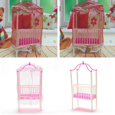 Sweet Baby Crib For Barbie Girls Furniture Kelly Baby Bed Doll Accessories
