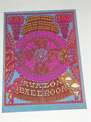 FD119 SANTANA Psychedelic Avalon Concert Poster by WILLIAM HENRY