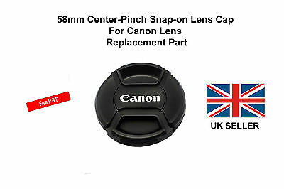 58mm Center-Pinch Snap-on Front Lens Cap For Canon Lens Replacement Part