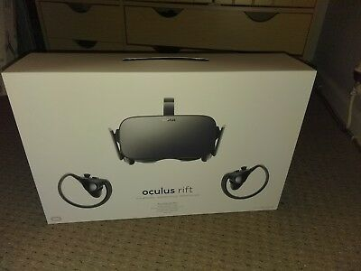 Oculus Rift VR Headset with touch controllers bundle bnib