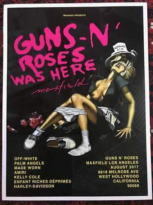 Guns N Roses Rare Poster Appetite 30Th Pop Up Store. Axl Slash. Super Rare
