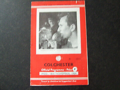Bideford V Colchester United 1964-5 Fa Cup 1St Round Replay