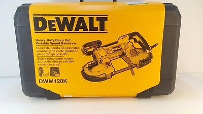 * DeWalt DWM120K Heavy Duty 10 Amp Deep Cut Portable Band Saw Kit