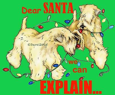 Wheaten Terrier Explain  Christmas note cards add a short message inside Free