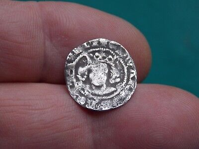 unresearched medieval hammered silver coin metal detecting detector finds