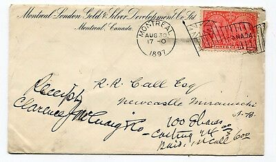 Canada QC Montreal 1897 Jubilee - Gold & Silver CC - Flag Cancel - Tear on Right