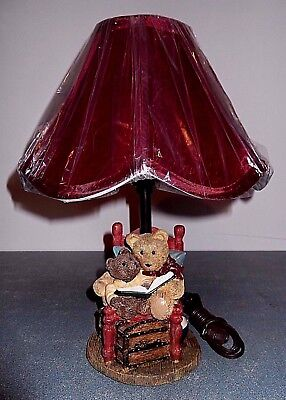 """Teddy Bear Child's Room Lamp - """"lets Read A Book"""""""