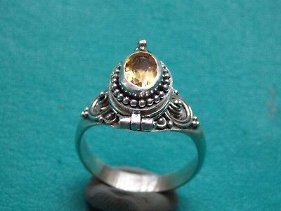 vintage silver 925 POISON ring beach find metal detecting detector