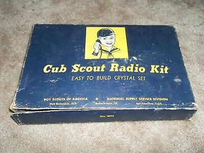 Cub Scout Crystal Radio Kit Model 1894 ~ Rare