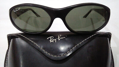 "1990's VINTAGE RAY-BAN B&L U.S.A ""DADDY-O BLACK POLARIZED"" W2688 & ORIGINAL CASE"