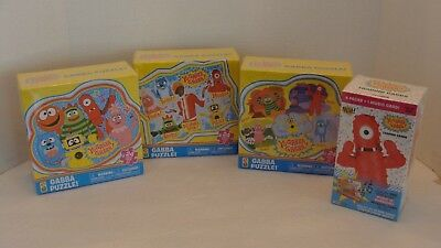 Yo Gabba Gabba Puzzle 24 Pieces Lot of 3 & Yo Gabba Gabba Trading Cards NEW