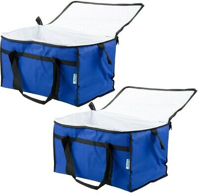 Insulated BLUE Nylon Hot Cold Catering Delivery Food Carrier Bag Drink Cooler