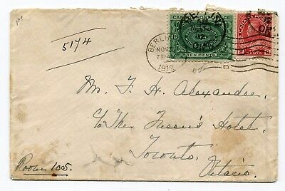 Canada ONT Berlin 1912 Admiral / E1 - Special Delivery Cover to Toronto -