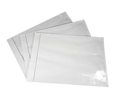 "1000 - 7""x10"" Clear Packing List Address Envelopes Adhesive Backing Sleeve"