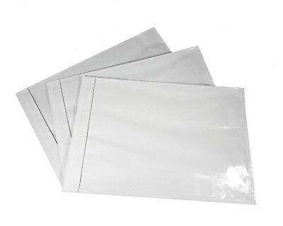 "1000 Pack 7"" x 10"" Clear Packing List Self Sealing Envelopes Shipping Pouches"