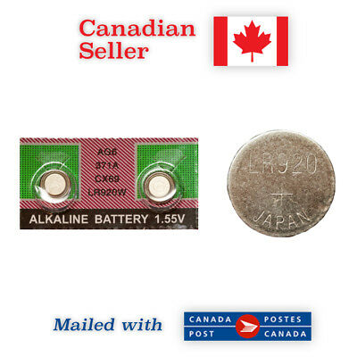 371 NEW! 2-Pack ALKALINE Button Battery - 370, SR69, LR920, SR920SW, AG6