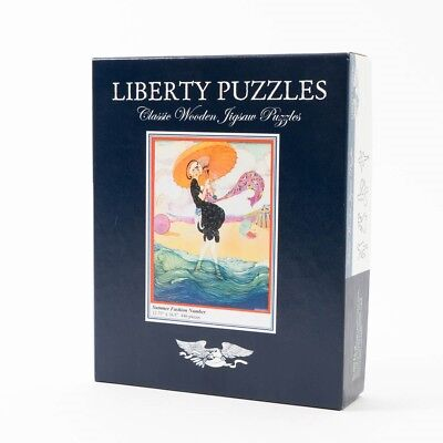 """Liberty Puzzles Classic Wooden Jigsaw 446 Pieces """"Summer Fashion Number"""" 16.5"""""""