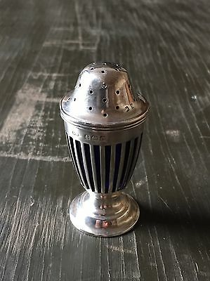 Antique Solid Silver Neo Classical Style Pepper Pot Cruet Condiment Shaker