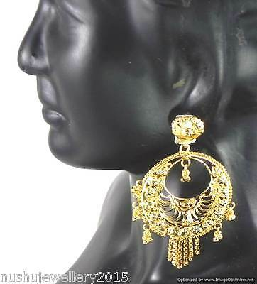 Gold Plated Earrings Bali sets of 10 Pairs Beautiful Ethnic Indian Jewelry
