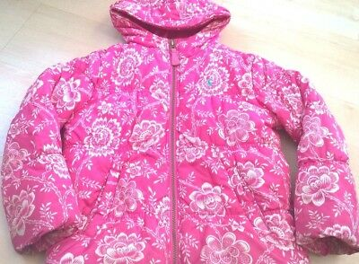 Joules pink girls coat, size: 7 years
