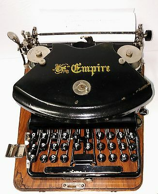 Vintage Empire Typewriter, Model 1, very good working condition, 1906