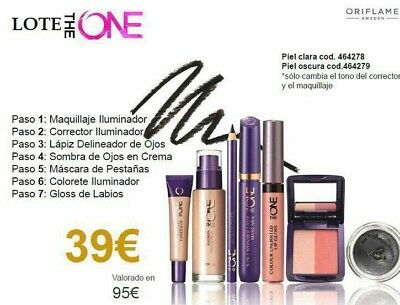 lote maquillaje the one, Oriflame piel clara
