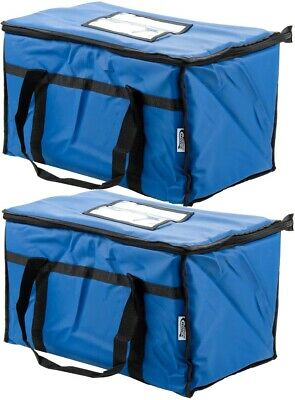 2X Insulated BLUE Catering Delivery Food Full Pan Carrier Hot Cold Cooler Bag
