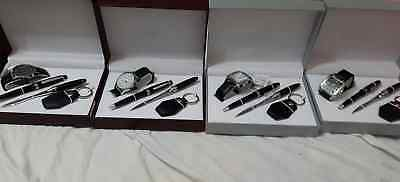 New Geneva Superior Mens Watch Gift Set With Pen,key Chain Envelope Opener In 2
