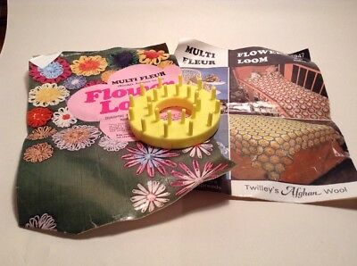 Vintage Sewing Flower Loom And Instructions