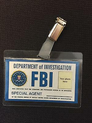 FBI  personalised  ID  BADGE,Halloween Fancy Dress,Stag Do, party