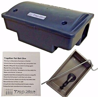 RODENT BAITING STATION TrapMan rat poison station poison holder RAT KILLER BOX
