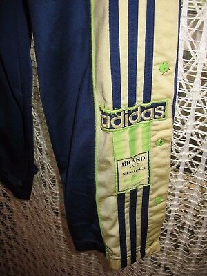 Retro Vintage Original Adidas Poppers D4 F168 Tracksuit Trousers/Bottoms 80s/90s