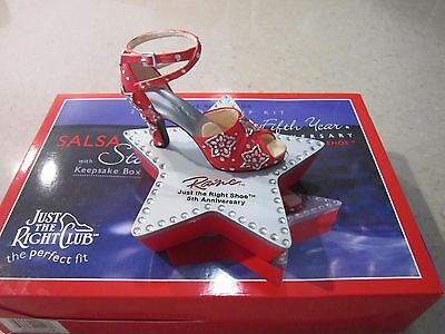 Just the Right Shoe, Raine 2002 SALSA STAR - NEW IN BOX # 90117 Retired