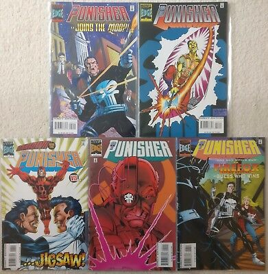 The Punisher Volume 2 #2 3 4 5 6, Marvel Comics, 1995/1996, Daredevil Jigsaw