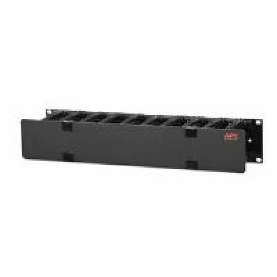 APC Horizontal Cable Manager 2U x 4 inch Deep Single-Sided with Cover