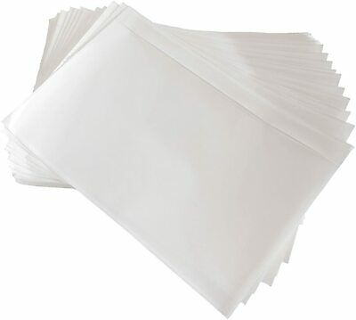 "7.5"" x 5.5"" Clear Adhesive Packing List Shipping Label Envelopes Pouches 100 Qty"