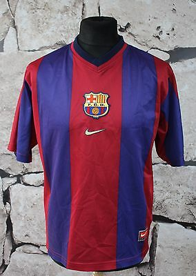 NIKE FC BARCELONA _ 1998/1999 HOME Football Shirt Jersey SIZE M _ ( 700 )