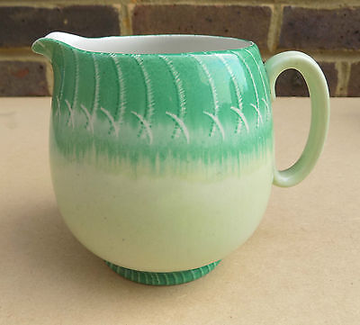 Art Deco SHELLEY Green Jug