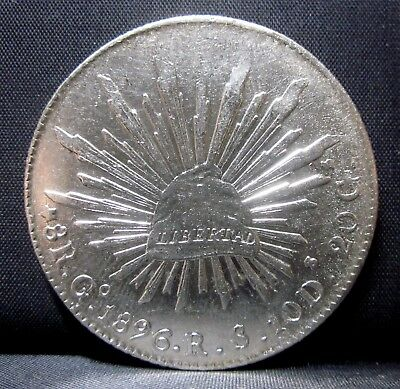 1896 Mexico 8 Reales ✪ Cap & Rays ✪ Silver Republica Go Guatemala Gr ◢Trusted◣