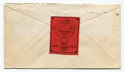 Canada ONT Toronto 1931 AAPS Airmail Society Cinderella Label - Hot Air Balloon