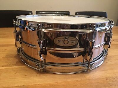 Pearl SensiTone Steel Snare Drum. Excellent Condition.