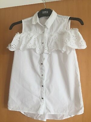 Beautiful White Blouse, River Island, age 11, Excellent condition
