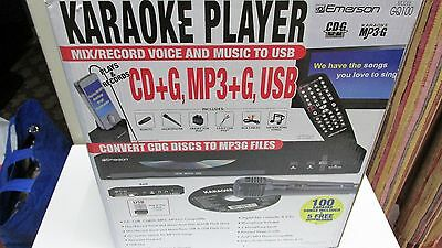 Emerson GQ100 Converts CDG To MP3G Karaoke Player Record Mix Music Voice To USB