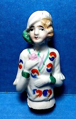 Vintage Porcelain Pin Cushion Half Doll  #42  Free Shipping
