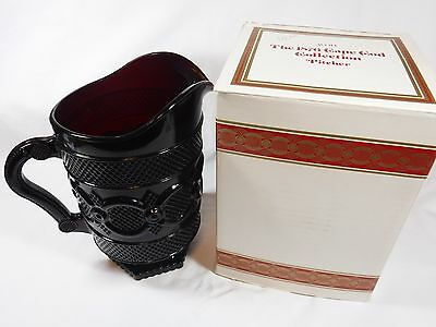 MINT Avon 1876 Cape Cod Ruby Red Glass WATER PITCHER with Original Box