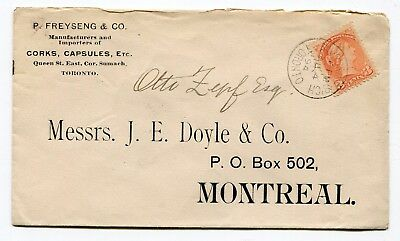 Canada ONT Toronto 1894 Riverside B'ch (Branch) CDS - Small Queen - CC Cover