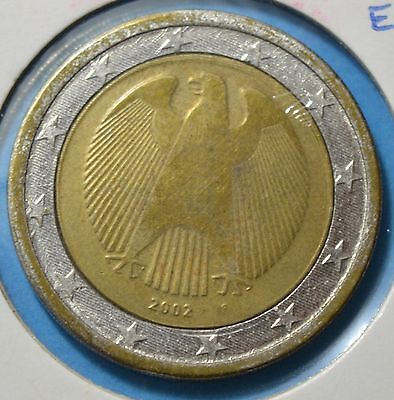 GERMANY 2 euro 2002 F - error - inclined axis  [#B482]