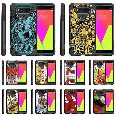 For LG V Series Phone Case Slim Dual Layer Hybrid Kickstand Gambling Casino